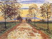 Ferdinand Hodler Autumn Evening oil painting