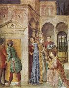 Fra Angelico St Lawrence Receiving the Church Treasures oil painting