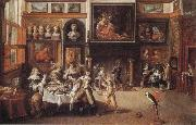 Frans Francken II Supper at the House of Burgomaster Rockox oil painting