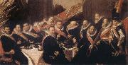 Frans Hals Banquet of the Office of the St George Civic Guard in Haarlem oil painting