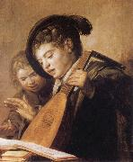 Frans Hals Two Singing Boys oil painting