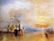 J.M.W. Turner The Fighting Temeraire Tugged to her Last Berth to be Broken Up oil painting reproduction