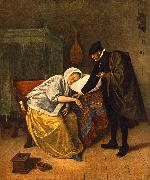 Jan Steen The Doctor and His Patient oil painting reproduction
