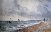 John Constable Hove Beach,withfishing boats oil painting reproduction