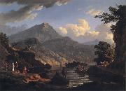 John Knox Landscape with Tourists at Loch Katrine oil painting reproduction