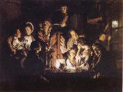 Joseph wright of derby Experiment iwth an Airpump oil painting reproduction