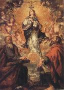 Juan de Valdes Leal Virgin of the Immaculate Conception with Sts.Andrew and Fohn the Baptist oil painting
