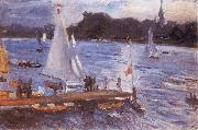 Max Slevogt The Alster at Hamburg oil painting