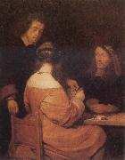 TERBORCH, Gerard The Card-Playes oil painting