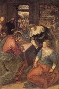 Tintoretto Christ with Mary and Martha oil painting