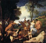 Titian Bacchanal of the Andrians oil painting reproduction
