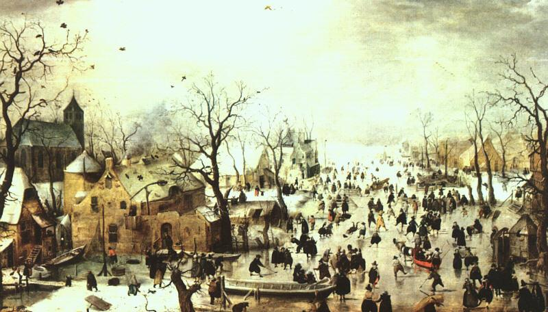AVERCAMP, Hendrick A Scene on the Ice near a Town  f oil painting image