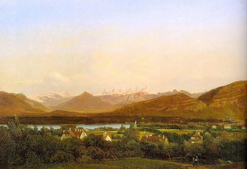 Alexandre Calame View of Geneva from Petit-Saconnex oil painting image