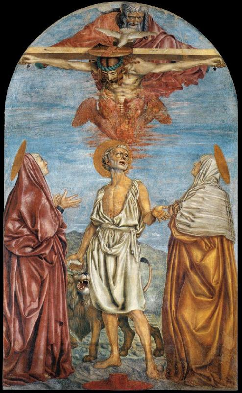Andrea del Castagno The Holy Trinity, St Jerome and Two Saints