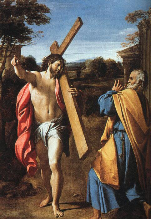 Annibale Carracci Christ Appearing to Saint Peter on the Appian Way