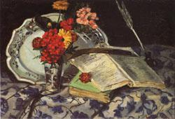 Armand Guillaumin Flowers Faience Books oil painting image
