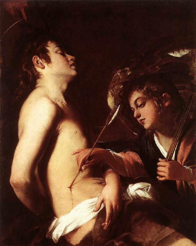 BAGLIONE, Giovanni St Sebastian Healed by an Angel  ed oil painting image
