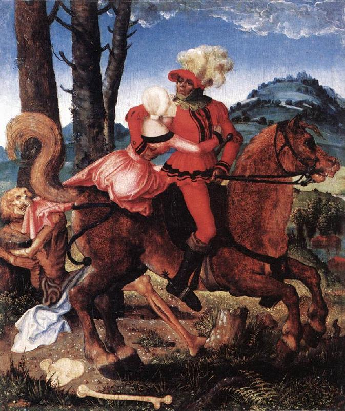 BALDUNG GRIEN, Hans The Knight, the Young Girl, and Death ddww oil painting image