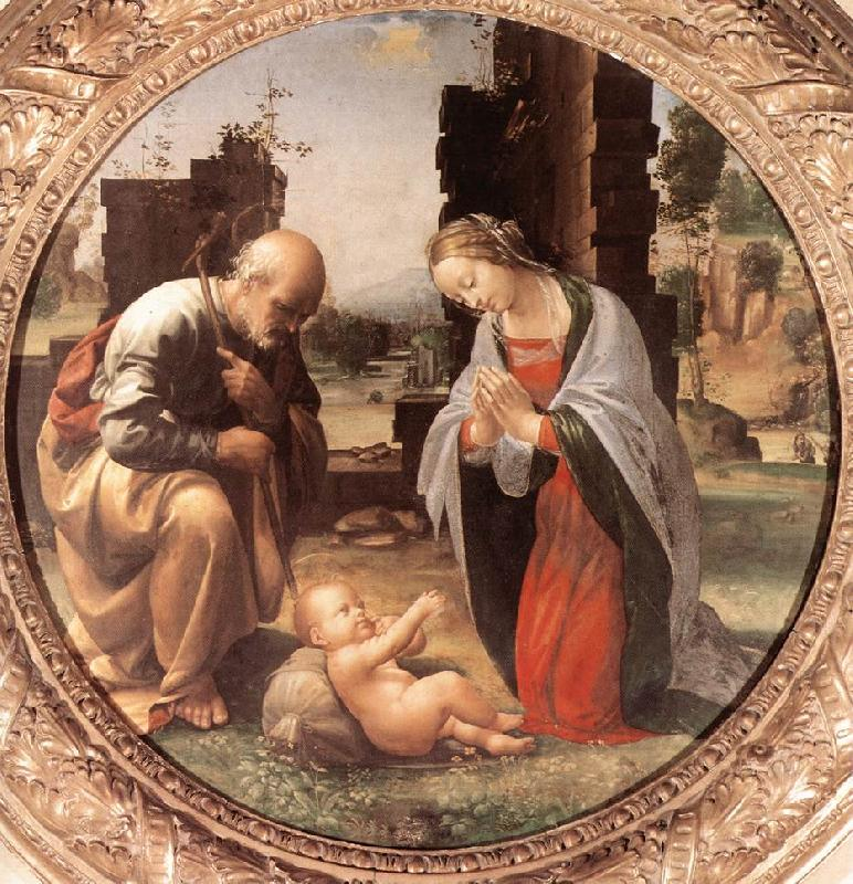 BARTOLOMEO, Fra The Adoration of the Christ Child nn oil painting image