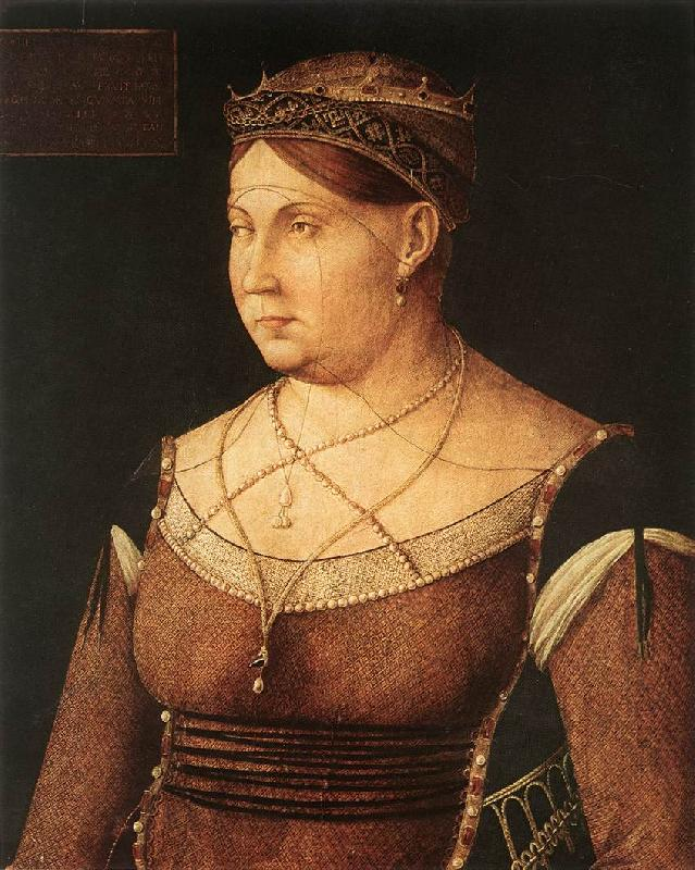 BELLINI, Gentile Portrait of Catharina Cornaro, Queen of Cyprus 867 oil painting image