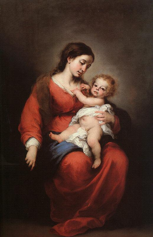 Bartolome Esteban Murillo Virgin and Child oil painting image