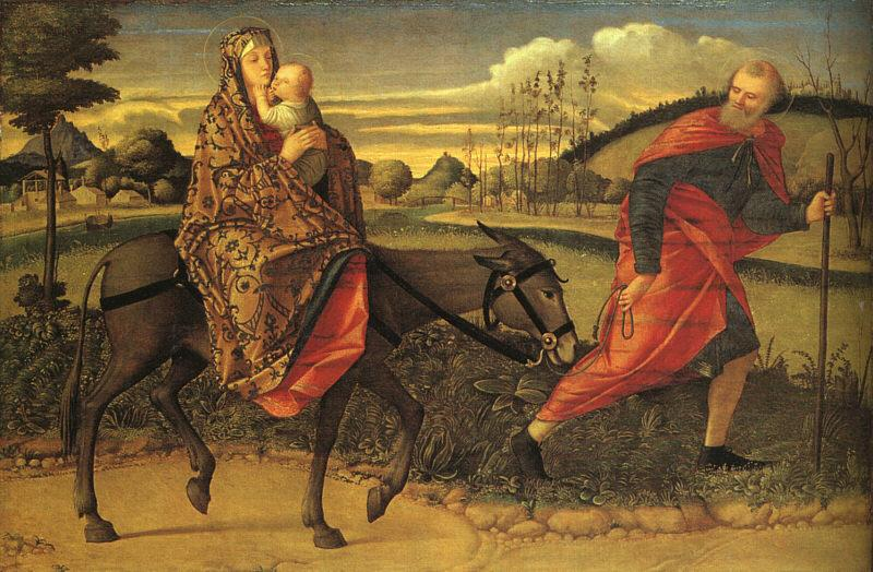 CARPACCIO, Vittore The Flight into Egypt fg oil painting image