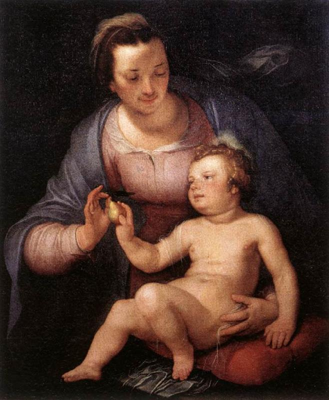 CORNELIS VAN HAARLEM Madonna and Child  vinxg oil painting image