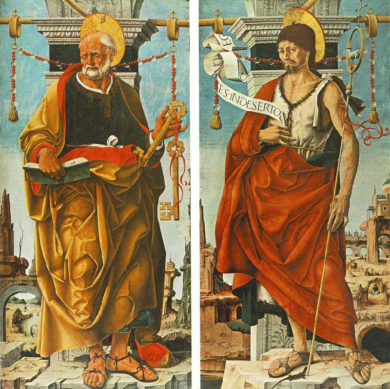 COSSA, Francesco del St Peter and St John the Baptist (Griffoni Polyptych) drg oil painting image