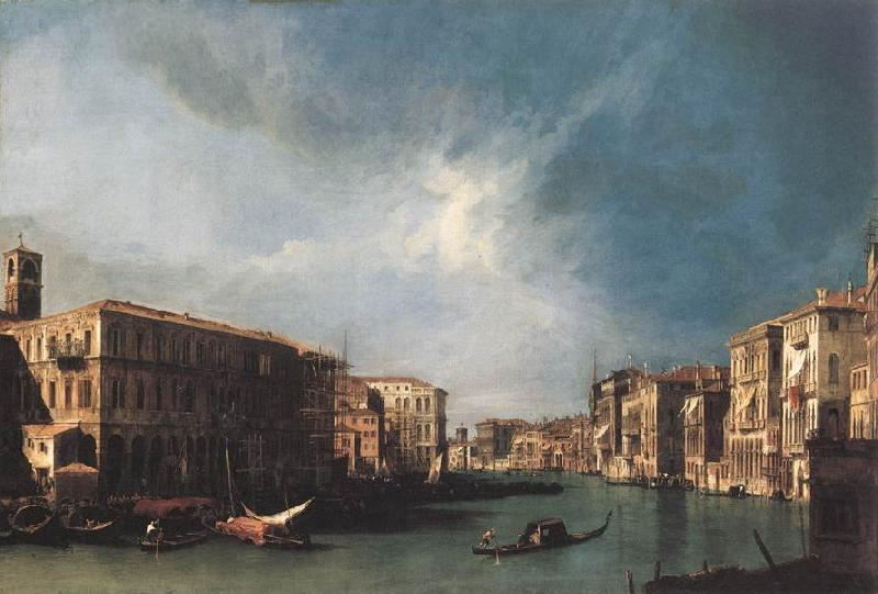 Canaletto The Grand Canal from Rialto toward the North oil painting image