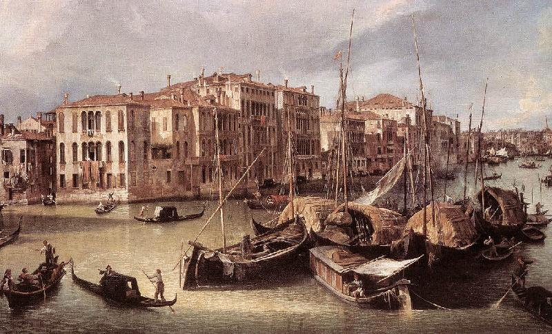 Canaletto Grand Canal: Looking North-East toward the Rialto Bridge (detail) d oil painting image