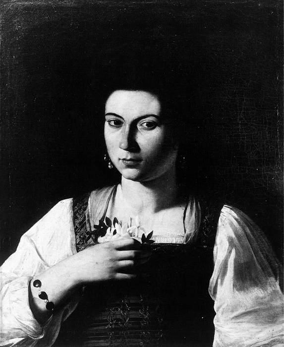 Caravaggio Portrait of a Courtesan fg oil painting image