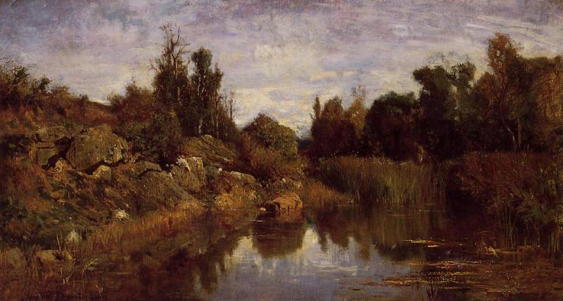 Charles-Francois Daubigny The Water's Edge oil painting image