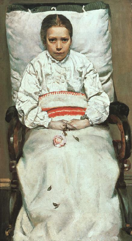 Christian Krohg The Sick Girl oil painting image