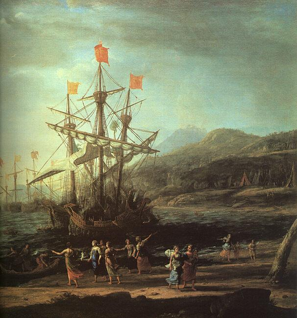 Claude Lorrain The Trojan Women Setting Fire to their Fleet oil painting image