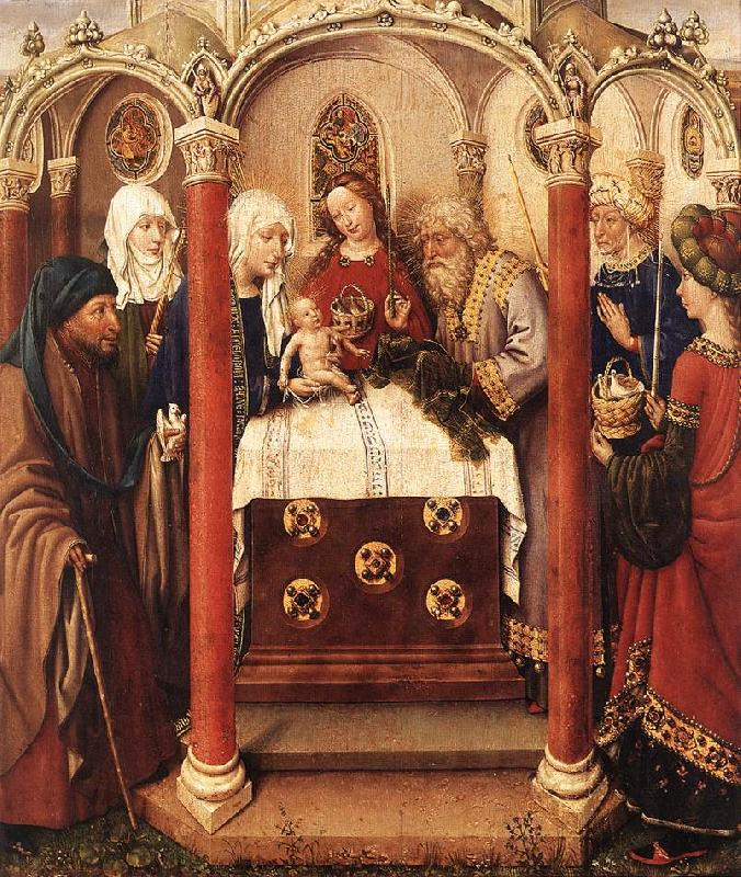 DARET, Jacques Altarpiece of the Virgin inx oil painting image
