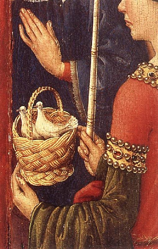 DARET, Jacques Altarpiece of the Virgin (detail) f oil painting image