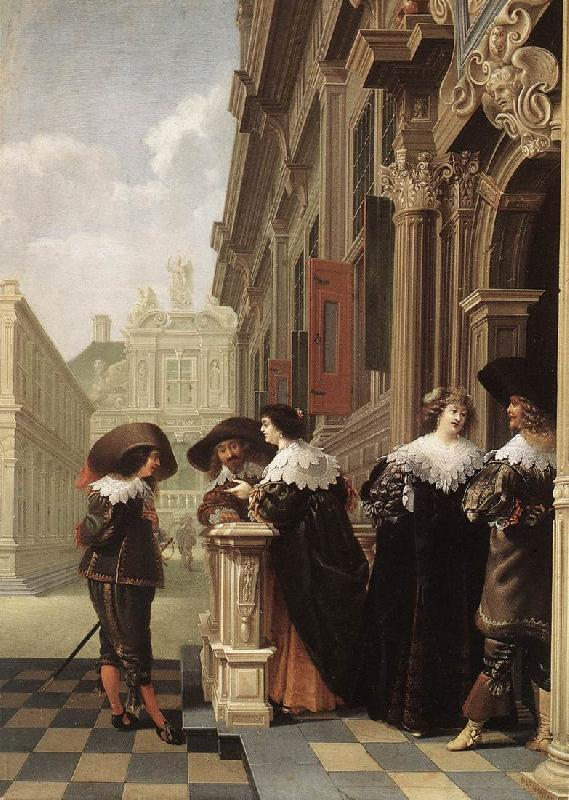 DELEN, Dirck van Conversation outside a Castle gfh oil painting image