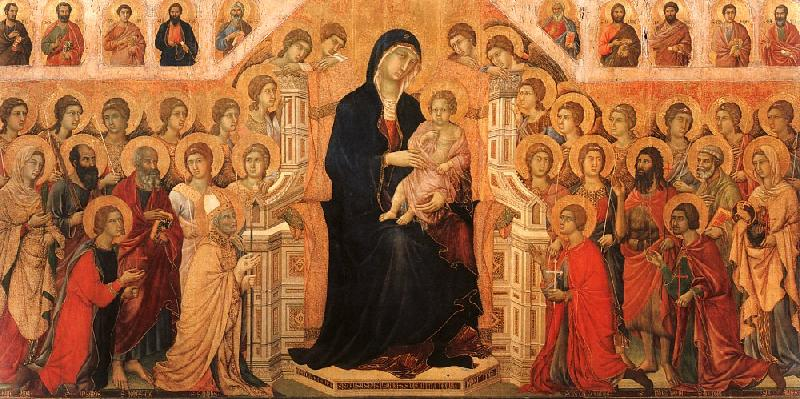Duccio di Buoninsegna Madonna and Child Enthroned with Angels and Saints