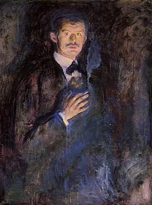 Edvard Munch Self Portrait with Cigarette   jjj