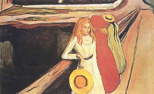 Edvard Munch Girl on a Bridge
