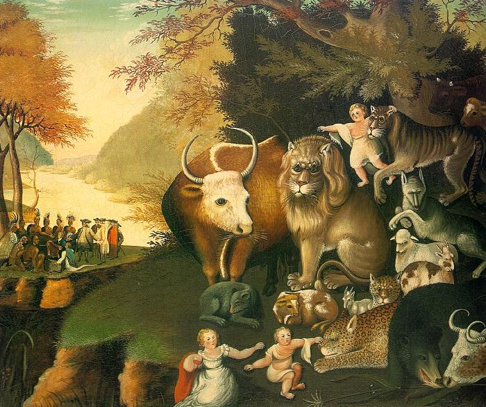 Edward Hicks The Peaceable Kingdom oil painting image