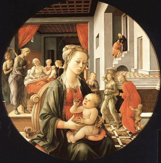 Fra Filippo Lippi Madonna and Child with Stories from the Life of St.Anne