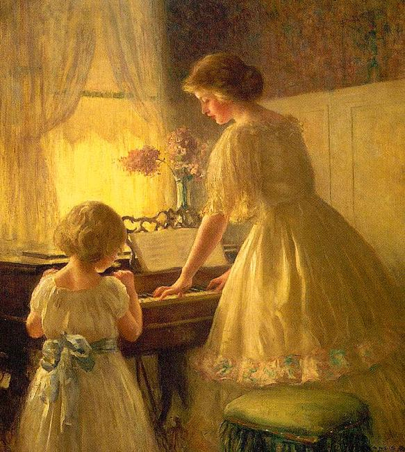 Francis Day The Piano Lesson oil painting image