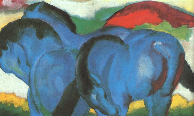 Franz Marc The Little Blue Horses oil painting image