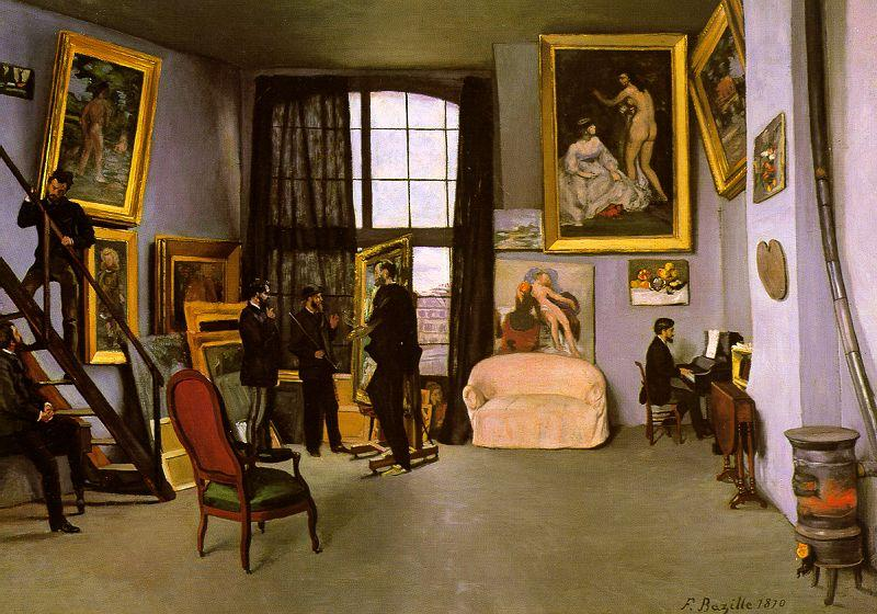 Frederic Bazille The Artist's Studio on the Rue de la Condamine oil painting image