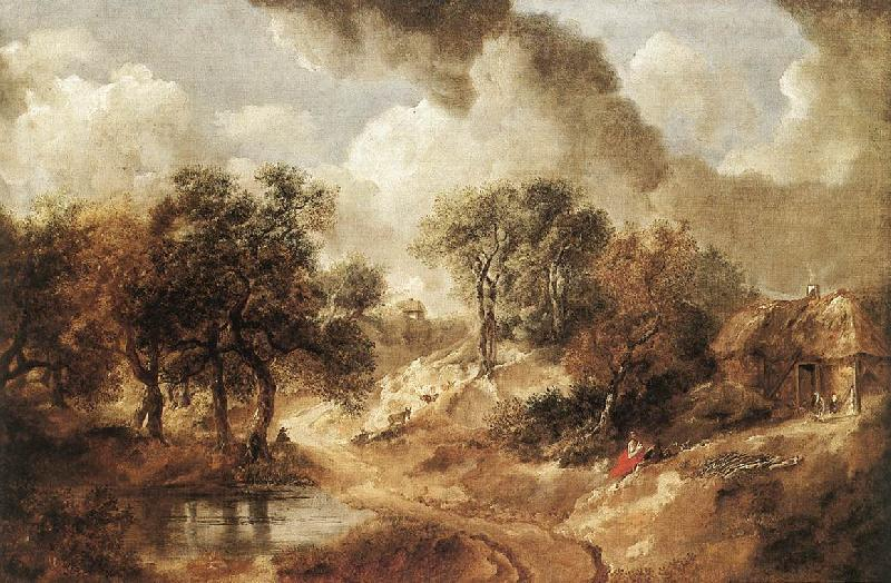 GAINSBOROUGH, Thomas Landscape in Suffolk sdg