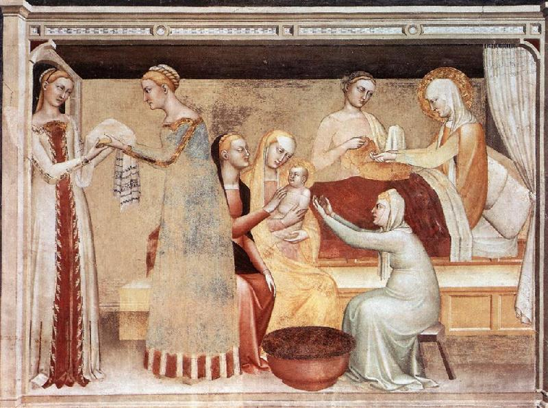 GIOVANNI DA MILANO The Birth of the Virgin sg oil painting image