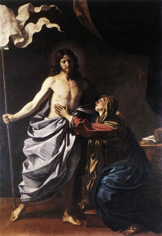 GUERCINO The Resurrected Christ Appears to the Virgin hf oil painting image