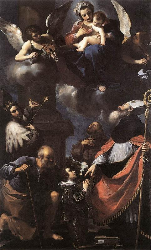 GUERCINO A Donor Presented to the Virgin lkhi oil painting image