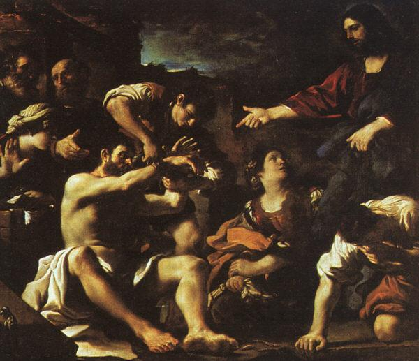 GUERCINO Raising of Lazarus hjf oil painting image